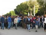 Manifestação na Avenida Bourguiba