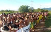 Manifestção de Indios organizados no MST
