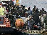 Refugiados africanos no mar